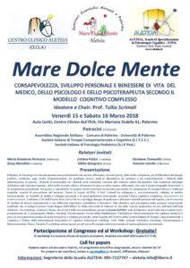 Palermo, 15/16 Marzo - Mare Dolce Mente @ Palermo, Centro Clinico Aleteia